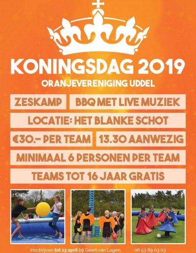 Flyer koningsdag 2019